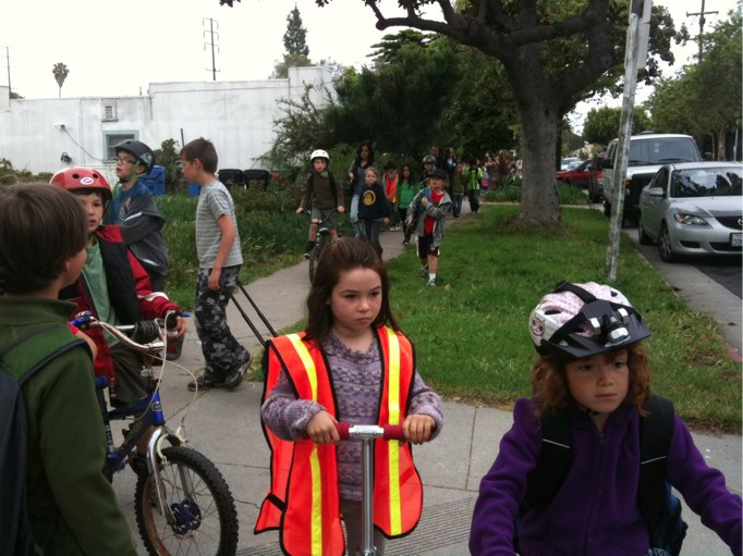 Linwood E. Howe students celebrate Earth Day by going to school car-free