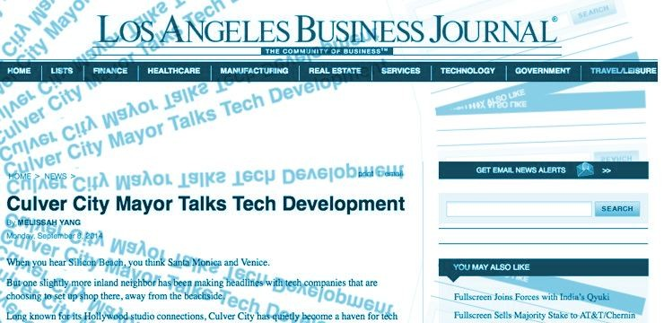 Culver City Mayor Talks Tech Development