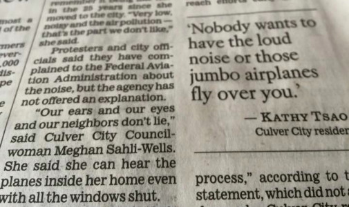 Culver City residents say noise from LAX flights is on the rise