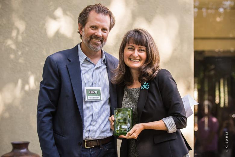 Receiving Award with LALCV President Tom Eisenhauer